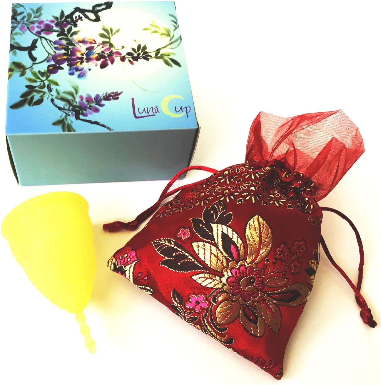 Luna Menstrual Cup In a popularity Kit Large Yellow New mail order 1