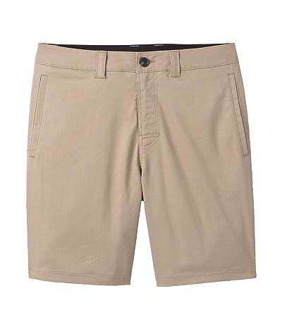 Prana Marlon Chino Shorts (Dark Khaki) Men