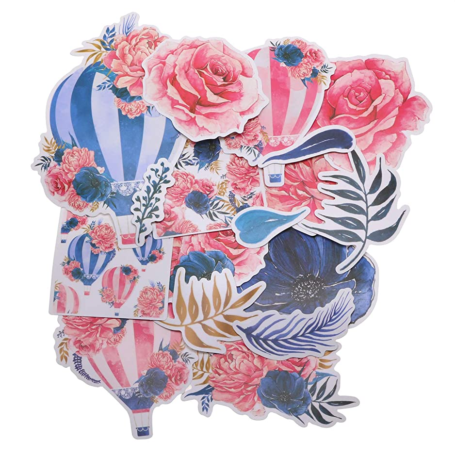 Penta Angel 16Pcs Cute Laptop Stickers Large Luggage Skateboard Car Motorcycle Bicycle Bike Guitar Decal Hot Air Balloon Flower Sticker Graffiti Patches for Kids Girls Teens Adults Scrapbook Craft