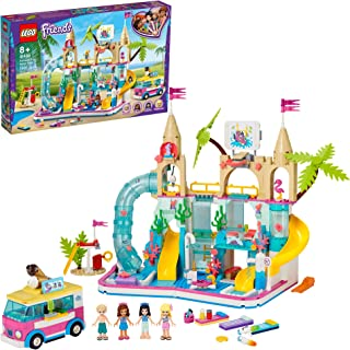 LEGO Friends Summer Fun Water Park 41430 Set Featuring LEGO Friends Stephanie, Emma, Olivia and Mason Buildable Mini-Doll Figures, Perfect Set for Creative Play, New 2020 (1,001 Pieces)