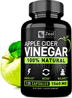 100% Natural Raw Apple Cider Vinegar Pills (1500 mg | 120 Capsules) Pure
