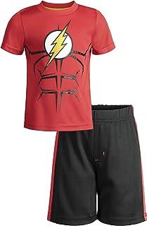 Warner Bros. Batman and Superman Boys' Athletic Performance T-Shirt & Mesh Shorts Set