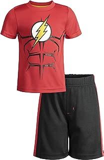 Batman and Superman Boys' Athletic Performance T-Shirt & Mesh Shorts Set