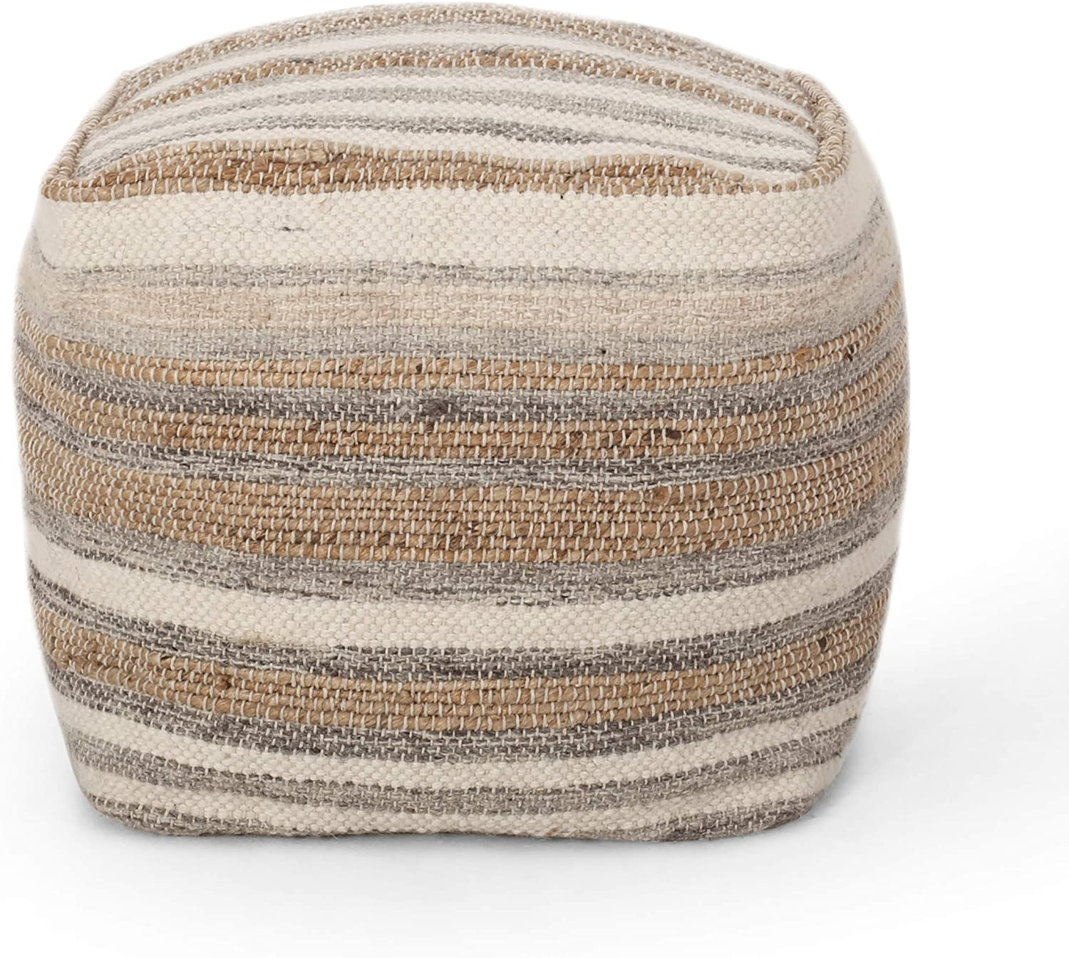 Christopher Knight Brand Cheap Sale OFFicial site Venue Home 313963 Pouf + Natural Ivory Grey