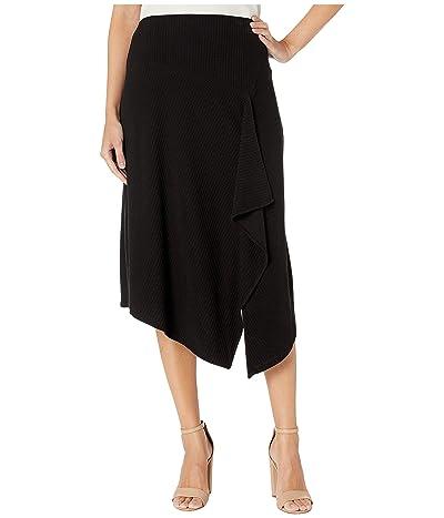 Calvin Klein Raised Stripe Knit Skirt (Black) Women