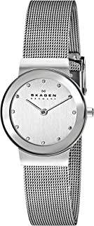 Skagen Women's Chrome Dial Stainless Steel Band Watch - 358SSSD, Analog Display
