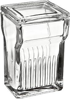Wheaton 900620 Glass Rectangular 250mL Coplin Staining Jar, with Lid (Case of 6)