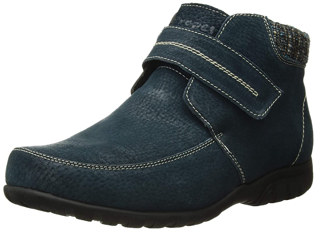 カード暴徒卒業記念アルバム[Propet] Women's Delaney Strap Navy Mid-Top Leather Boot - 7.5M