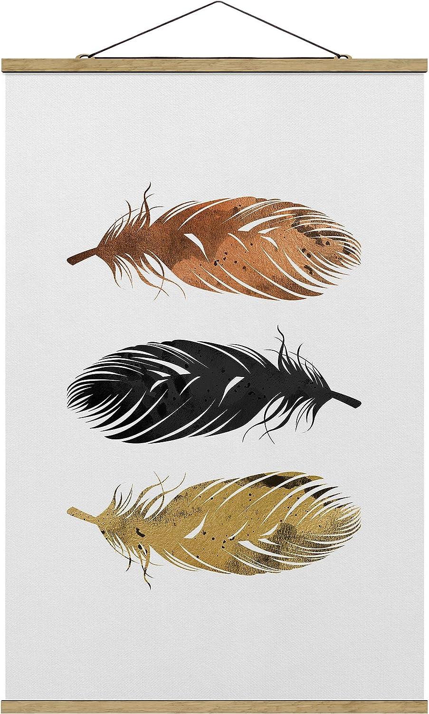 Bilderwelten Ranking TOP20 Wall Hanging - half Feathers x Material: O 80cm 120cm