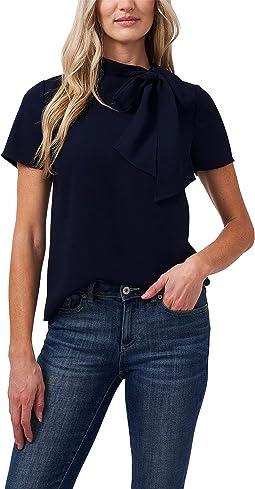Short Sleeve Blouse w/ Bow