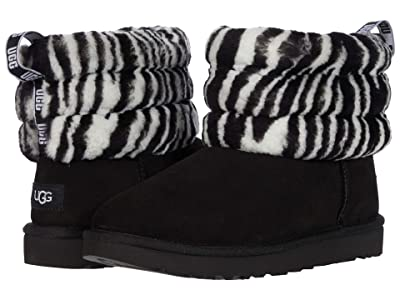 UGG Fluff Mini Quilted (Black/White) Women