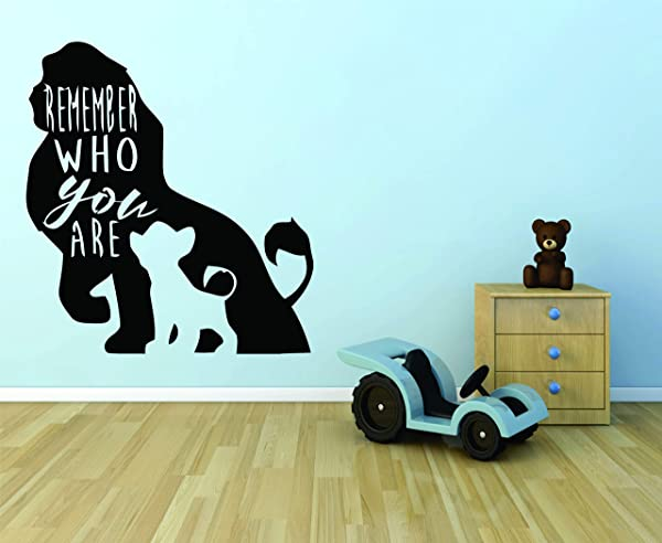 The Lion King Wall Decals For Kids Rooms Simba Mufasa Designs Decor Lions Boys Boy Childrens Creative Animated Vinyl Decal Removable Stickers For Bedrooms Artwork Interesting Disney Size 30x22 Inch