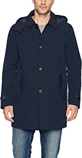 Men's Hooded Rain Trench Coat With Removable Quilted Liner
