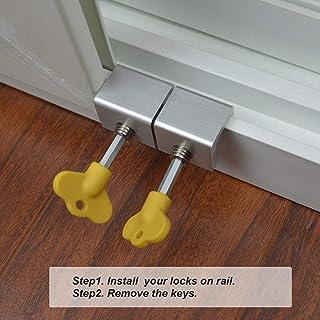 Sliding Door//Window Kids Child Safety Lock Security Slide Stopper Adjustable