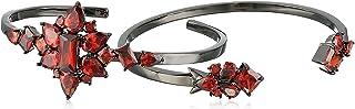 Noir Jewelry Frozen Red and Black Cuff Bracelet
