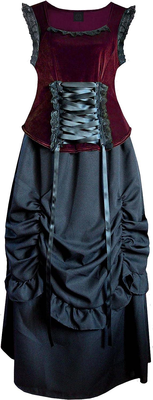 Cykxtees Victorian Valentine Steampunk Civil War Gothic Women's Top & Skirt