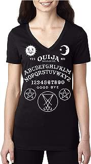 OUIJA BOARD SHIRT - SPIRIT Ouija Talking Board Women's V-Neck black T Shirt