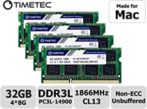 Timetec Hynix IC 32GB KIT(4x8GB) Compatible for Apple Late 2015 iMac 27-inch w/Retina 5K Display DDR3L 1866MHz / 1867MHz PC3L-14900 2Rx8 CL13 1.35V SODIMM Memory Upgrade (32GB KIT(4x8GB))