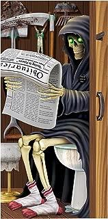 Beistle 00022 Grim Reaper Restroom Door Cover, 30