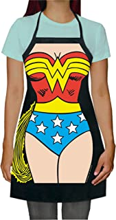ICUP DC Comics - Wonder Woman Be The Character Adult Size 100% Cotton Adjustable Black Apron