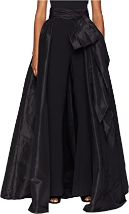 Detachable Pleated Taffeta Over Skirt w/ Large Bow