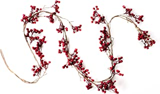 CraftMore Red Berry Garland 6 Foot