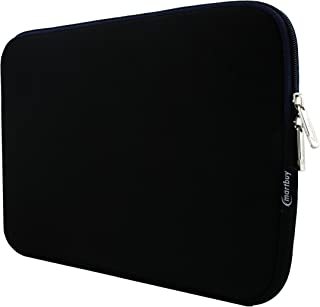 Emartbuy Black/Midnight Blue Water Resistant Neoprene Soft Zip Case Cover Sleeve with Blue Interior and Zipper 11.6-13.3 Inch Suitable for Selected Devices Listed Below
