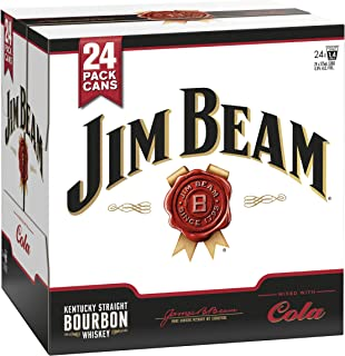Jim Beam White Label Bourbon & Cola Cans 375ml (Pack of 24)