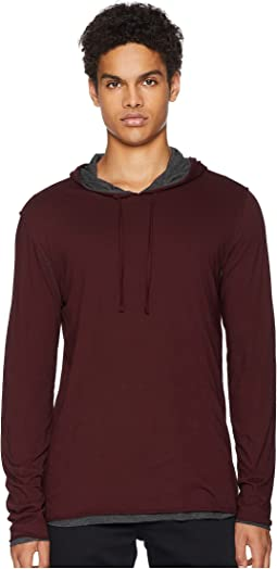 Two-Tone Double Layer Pullover Hoodie