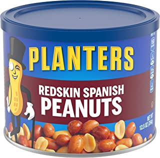 Planters Spanish Redskin Peanuts, 12.5 Oz (Pack of 6)