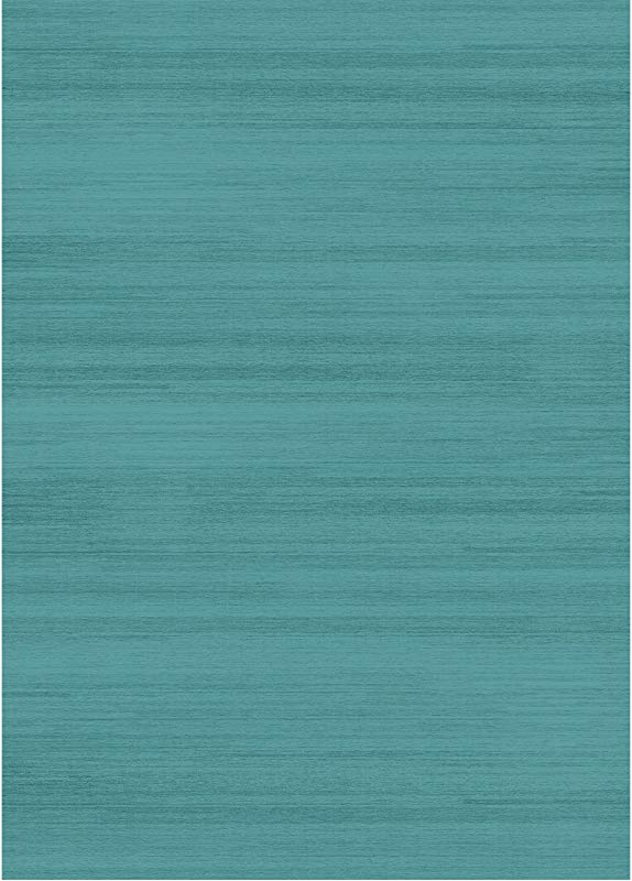 RUGGABLE Solid Textured Ocean Blue Washable Indoor Outdoor Stain Resistant 5 X7 60 X84 Area Rug 2pc Set Cover And Pad