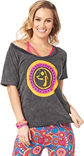 Loose Fitting Dance Fitness Graphic Tees Athletic Workout Top for Women