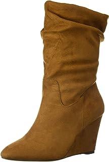 حذاء Athena Alexander نسائي أنيق للكاحل من الجلد المدبوغ بلون تان 9 M US