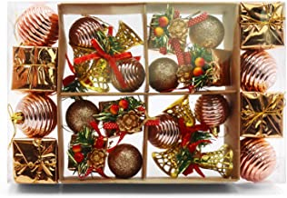JEFEE Christmas Ball Ornaments, Assorted Pendant Shatterproof Ball Ornament Set Seasonal Decorations with Gift Boxes Ideal...