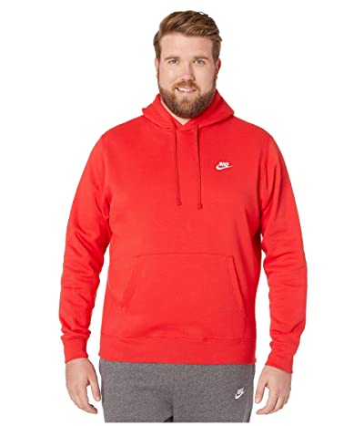 Nike Big Tall NSW Club Hoodie Pullover (University Red/University Red/White) Men
