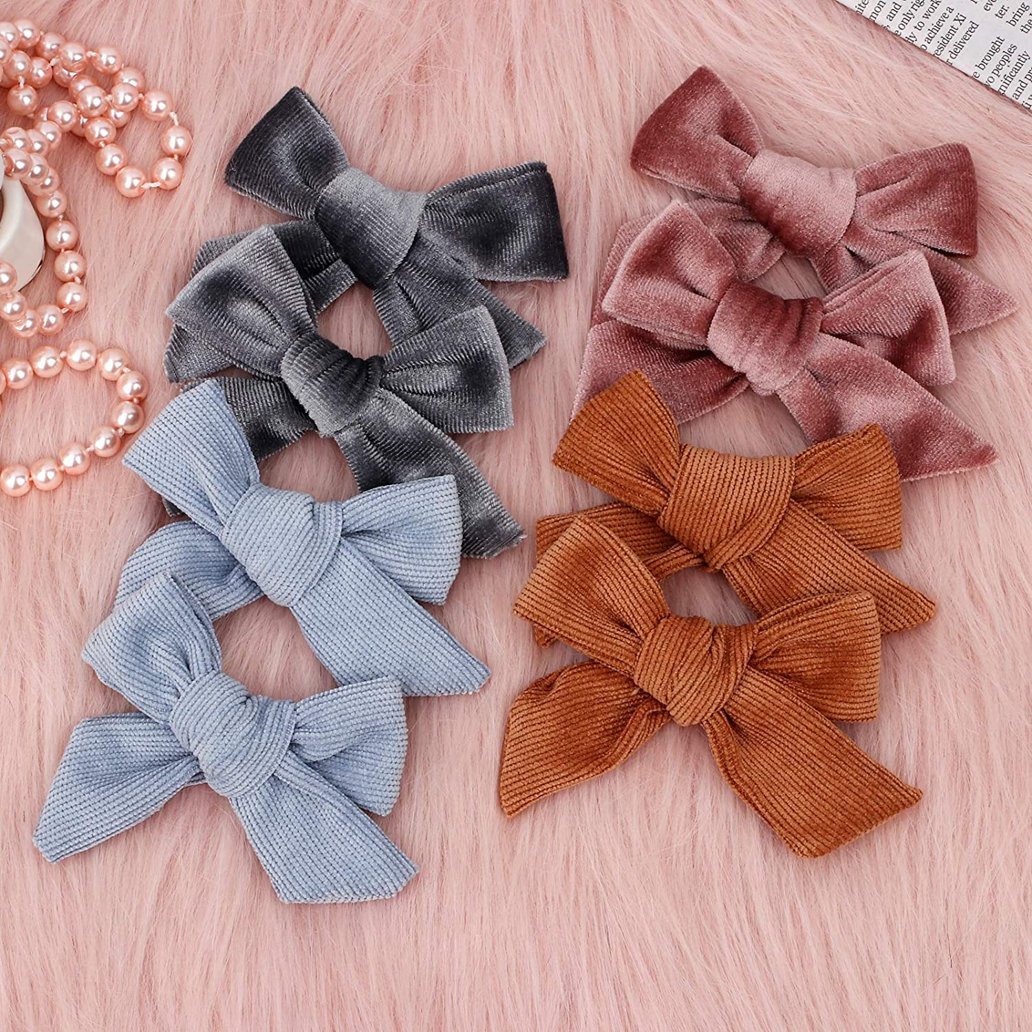 24 PCS Baby Girls Hair Bows Clips 4.5 inch Alligator Clips Tiny Barrettes Accessories for Fine Hair Infants Toddler Kids