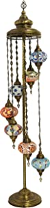 Lampadaires - Mosaic GlobeTurque Lampadaires, Superbe Style Marocain Luminaires Intérieur Lampadaires