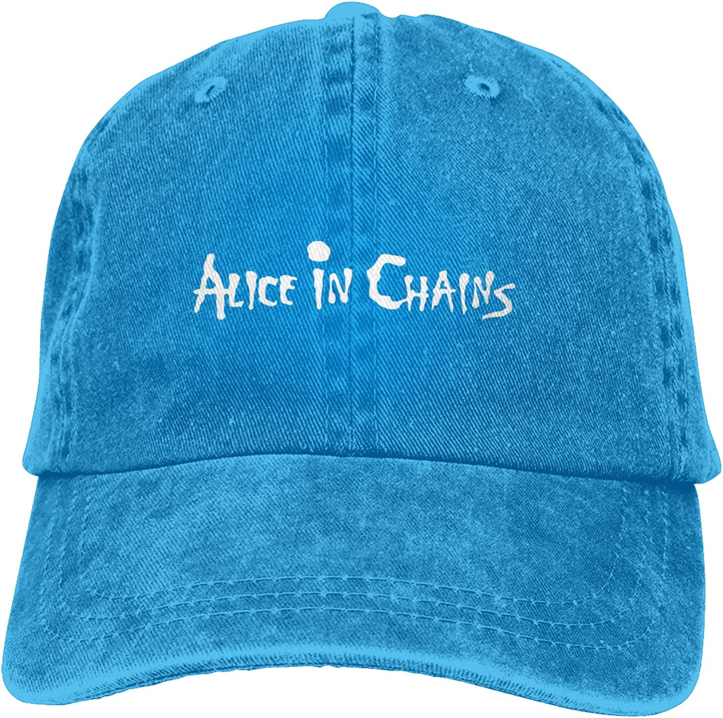 Alice in Chains Cowboy Hat Unisex Adjustable Hat Circumference Size Pure Cotton Denim Wash Water Outdoor