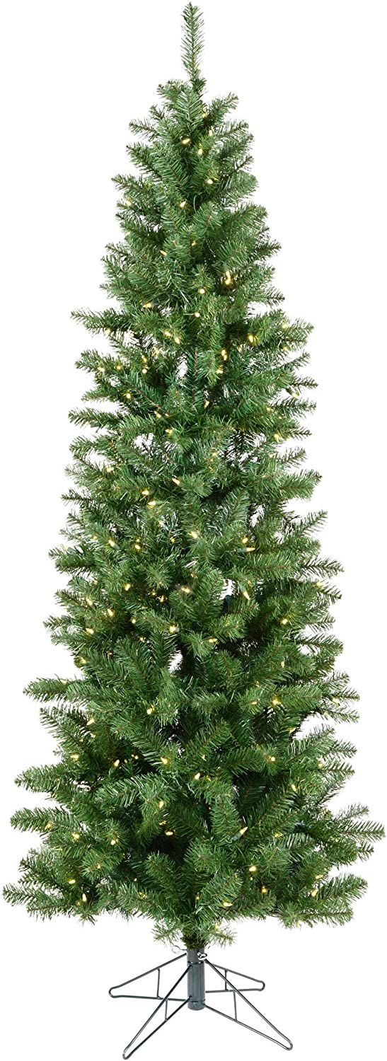 Vickerman 7.5' Salem At the price of surprise Cash special price Pencil Pine Tree Warm Artificial Christmas