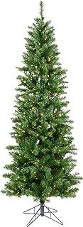 Vickerman 4.5-feet Salem Pencil Pine Artificial Christmas Tree with 150 Warm White LED lights