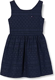 Tommy Hilfiger Broderie Anglaise Dress Slvls Vestido para Niñas