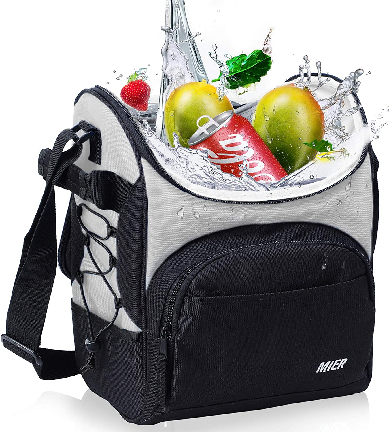 100% quality warranty! MIER 16 Ranking TOP15 Can Insulated Lunch Box Leakproo for Large Bag Women Men