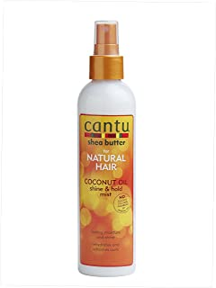 Cantu Shea Butter Coconut Oil Shine and Hold Mist, 8 Fluid Ounce