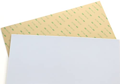 """Teflon (PTFE) sheets, various sizes, 0.03"""" (1/32"""") thick, with 3M 300LSE industrial-strength self-adhesive backing [T..."""