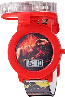 Jurassic Park Jurassic Park Kids' JRW4007 Digital Display Quartz Black Watch