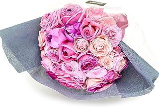 ROSETIQUE by Miwako×IMAI KIYOSHIオリジナル ローズ花束 (生花) ギフト (ピンク系ミックス, ラッピングあり)