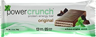 Power Crunch Protein Energy Bar, Chocolate Mint, 1.4-Ounce Bars, 12 Count