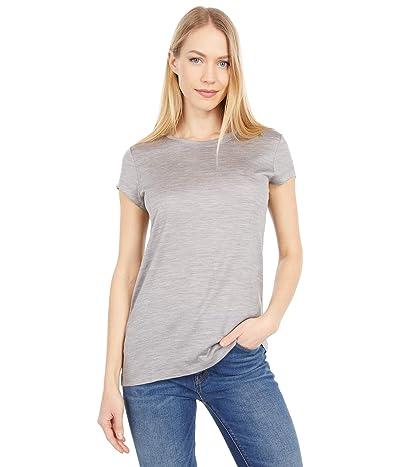 Pendleton Short Sleeve Merino Tee (Soft Grey Heather) Women