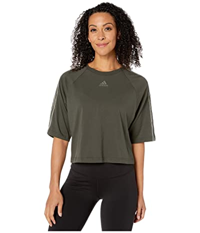 adidas Sport ID 3-Stripe Tee (Legend Earth) Women