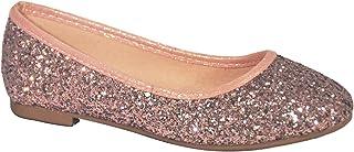 Sparkle Metallic Glitter Fashion Slip On Ballet Flat for Little Girl Assorted Colors